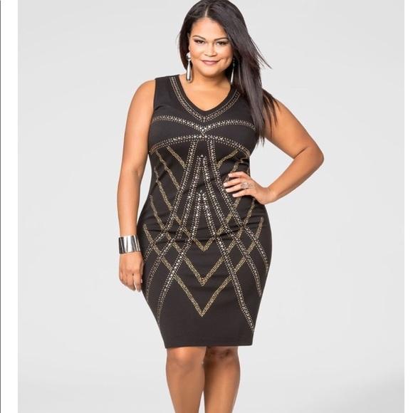 33b88d3d305 Ashley Stewart Dresses   Skirts - Studded Bodycon Dress! Size 14 16W